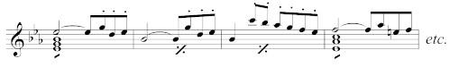 MW_WeV-M04, Takt 1–4 der umgearbeiteten Ouvertüre zu Peter Schmoll