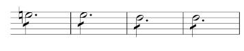 MW_WeV-N13, Takt 119–122 von Satz III des 2. Klarinettenkonzerts,                      ursprüngliche Version