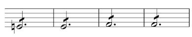 MW_WeV-N13, Takt 119–122 von Satz III des 2. Klarinettenkonzerts, veränderte                      Version