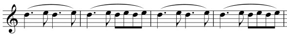 Tinnitus-Geräusch-Darstellung in Noten