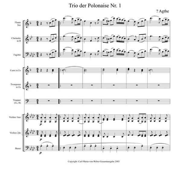 Trio der Polonaise Nr.1 von Agthe, S.1