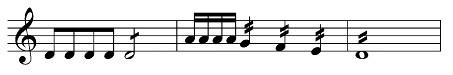 Beispiel: Tonrepetitionen und Tremoli im Klaviersatz