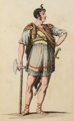 Franz Rudolf Bayer als Katumer in Camma (Kunstbibliothek der Staatlichen Museen zu Berlin PK, Lipperheidesche Kostümbibliothek, Lipp Za 34 m R)