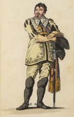 Johann Carl Liebich als Kaspar der Thorringer (Kunstbibliothek der Staatlichen Museen zu Berlin PK, Lipperheidesche Kostümbibliothek, Lipp Za 34 m R)