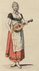 Philippine Bessel als Fanchon (Kunstbibliothek der Staatlichen Museen zu Berlin PK, Lipperheidesche Kostümbibliothek, Lipp Za 34 m R)