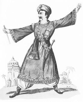 Mr. Cooper, Rollenporträt als Almanzor im Oberon
