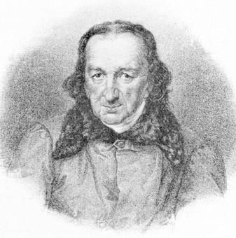 J. A. Miksch, Zeichnung von E. B. Kietz
